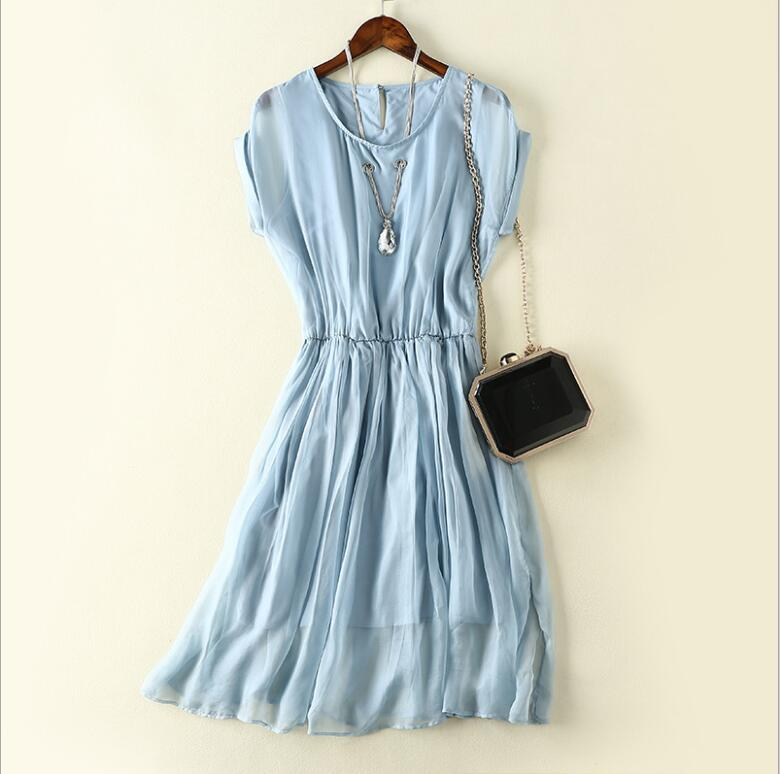 blue chiffon dress 1