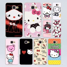 lovely Hello Kitty design transparent clear hard case cover for Samsung Galaxy A3 A5(2016) A7 A7 A7(2017) A8 A9