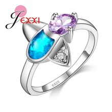 PATICO Fascinating Colorful AAAAA CZ Crystal  925 Sterling Silver Ring For Women Size 7/8/9 Free Shipping Best Christmas Gifts