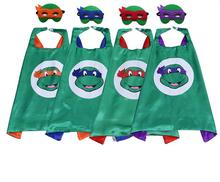 Cartoon Ninja Turtles Mask Cloak 2017 Fun Children Mask Cloak For Halloween Christmas Birthday Party Decoration Supplies 6D