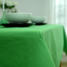 Europe Style Thick Solid Color Green Table Cloth Office Plain Table Cloth More Size For Choice Tablecloth