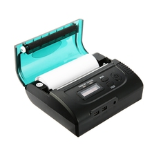 High Quality ZJ-8002 80mm 203DPI Bluetooth 2.0 Dot-matrix Thermal Receipt Printer For Restaurant Supermarket EU Plug