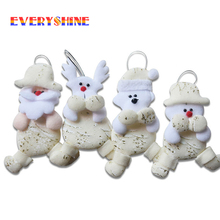 New Arrive 6pcs/lot Christmas Series Santa Claus Snowman Pendant Dolls Gift Toys Christmas Tree Hanging Ornaments Supplies SD293