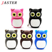 JASTER Novel lovely Owl USB Flash Drive pen drive pendrive 4GB 8GB 16GB 32GB 64GB cartoon bird memory stick USB 2.0 U disk