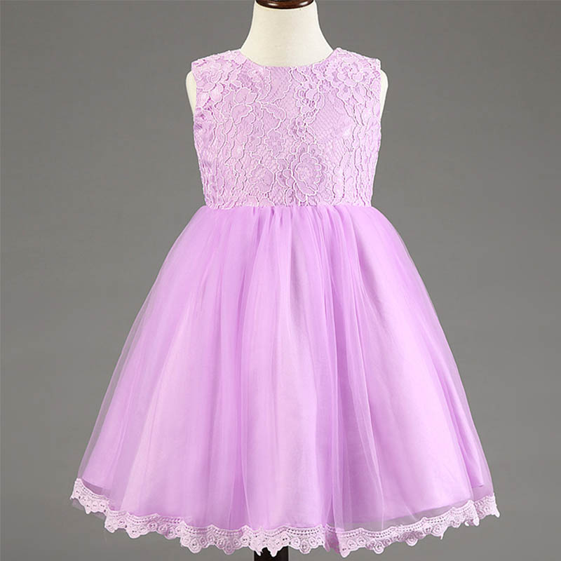 Cute Lace Girls Dress Clothes Kids Dresses For Girls Solid Sleeveless Wedding Dress Princess Dresses Costume Children Clothing<br><br>Aliexpress