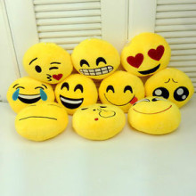 1Pc 6 Inch Lovely Emoji Smiley Emoticon Pillows Cushion Soft Stuffed Plush Cute Cartoon Toy Doll 8 Styles Christmas Gift