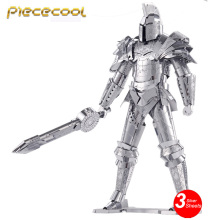 2016 Piececool 3D Metal Puzzle Black Knight Armor Soldier P079-S DIY 3D Laser Cut Assemble Models Toys For Audit