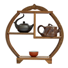 Ming and Qing furniture mahogany wings antique wooden curio shelf bun Shelf Teapot frame ornaments factory direct(China)