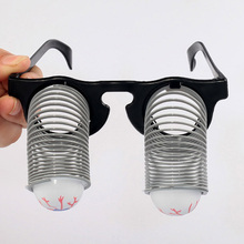 1pcs Terror Pop-up Eyes Glasses Spring Glasses Funny Trick Toy For Fun Prank Toy Children Kids Gifts