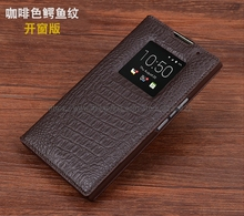 Wobiloo for BlackBerry Priv Venecia Genuine Leather case coque high quality flip Genuine Leather phone cover case concha(China)