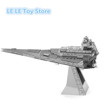 Free Shipping 2015 Hot Sale puzzle toys Star Wars Model Building Kits 3D Scale Models DIY Metallic Nano  Toys pazzle