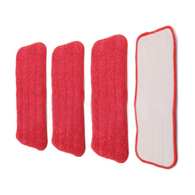 HOT-Replacement fiber Pads Spray Water Spraying Flat Dust Mop Floor Cleaner(China)