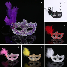 Hot Cheap Factory Direct Painting Mask Venetian Mask Side Flower Princess Mask Butterfly Mask Feather Leather Models S3725