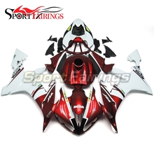 Injection Plastic Full Fairings For Yamaha R1 Year 2004 2005 2006 04 05 06 ABS Motorcycle Kit Bodywork Carenes Panel Red White(China)