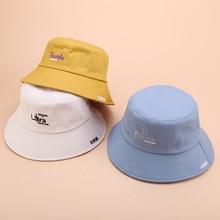 36c52455c0c Embroidered Bucket Hat Men Women Panama Boonie Cotton Fishing Outdoor  Summer Cap Letter Harajuku Spring 2019