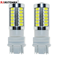 For Daytime Running Lights DRL Lamp 2X Red 3157 T25 5730Chip 33SMD LED Bulbs 6color red green purple yellow white iceblue(China)