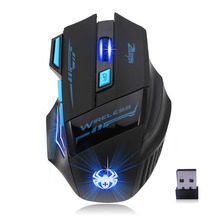 NewProfessional Pro Gamer Adjustable 2400DPI Optical Wireless Gaming Mouse Gamer Mice For PC Laptop Desktop Computer Accessories(China)
