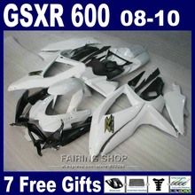 Injection mold lower price fairings for suzuki gsxr 600 750 08 09 10 classical white black fairing kit gsxr600 2008-2010 SA16(China)