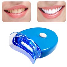Mini Cold Teeth Whitening Light 1 LED Blue Lamp System Protable Home Whitener Teeth Bleaching Laser Machine Oral Care(China)