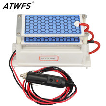 ATWFS Newest DC 12v 10g Car Ozone Generator Air Purifier Ozonizer Cleaning Ozone Ceramic Plate Air Sterilizer
