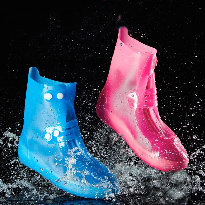 Clear Rain Shoes Cover Overshoes Plastic Reusable Boots Colorful Protector Lady