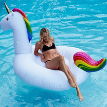200CM Inflatable Unicorn Giant Pool Float Inflatable Swim Ring Pegasus Floating Pool Inflatable Toys Adult Inflatable Swim Float(China)