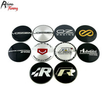 Rhino Tuning 65mm 4PC Vossen R Line OZ Racing ABT Advanti Car Wheel Center Centre Badge Sticker Auto Styling Emblem 363(China)