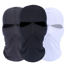 Lycra Double Hole Cycling Motorcycle Balaclava Headwear Ski Neck Protecting Outdoor Full Face Mask for Cold Or Hot Weather