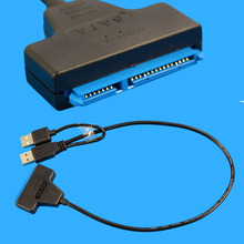Data Power Cable USB 2.0 to SATA 7+15 Pin Adapter for 2.5 HDD Hard Disk Driver