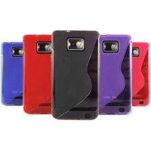 for Samsung Galaxy S2 Case Cover, 8 Colors S LINE WAVE Phone Case Silicone Back Cover for Samsung Galaxy S2 i9100 gt-i9100