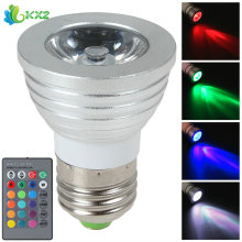 E27 5W AC 85V - 265V RGB LED Light Bulb 16 Colors Changing Energy Saving LED Bulb Lamp + Wireless IR Remote Controller