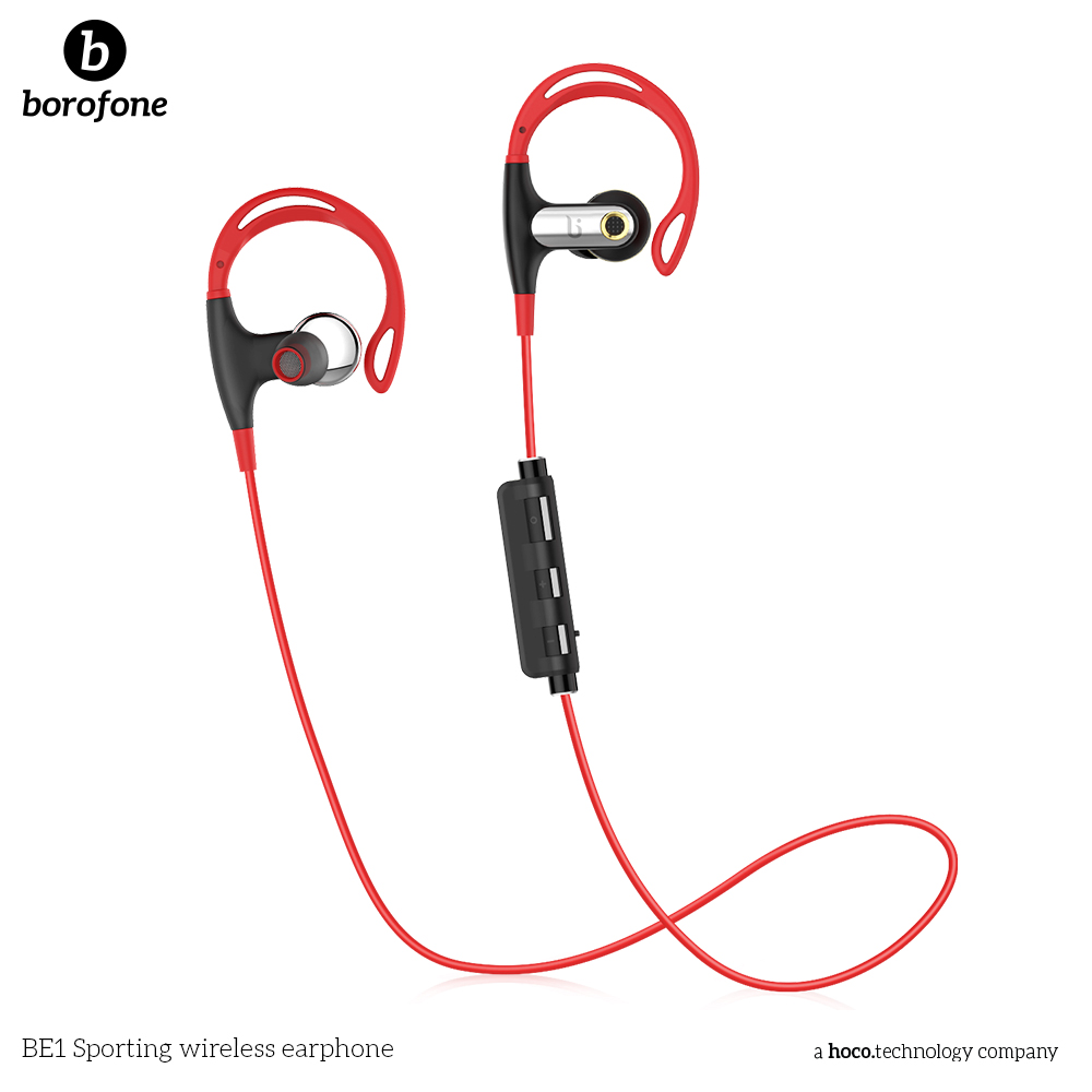 BOROFONE BE1 Wireless Sport Bluetooth Headphone Bluetooth Headphones Waterproof Noise Canceling with mic<br>