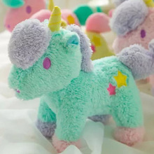 22cm 1pc Cartoon gemini plush unicorn doll Horse toy sucker pendant bags pendant kids toys christmas gift