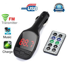 2017 accessories Wireless MP3 Player Auto FM Transmitter Modulator LCD Car Kit USB Charger SD MMC Remote(China)