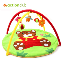 Actionclub Baby Boys Girls Play Mat Infant Baby Toys Educational Games Mat Green Cartoon Bear Blanket Puzzle Kids Crawl Carpet(China)