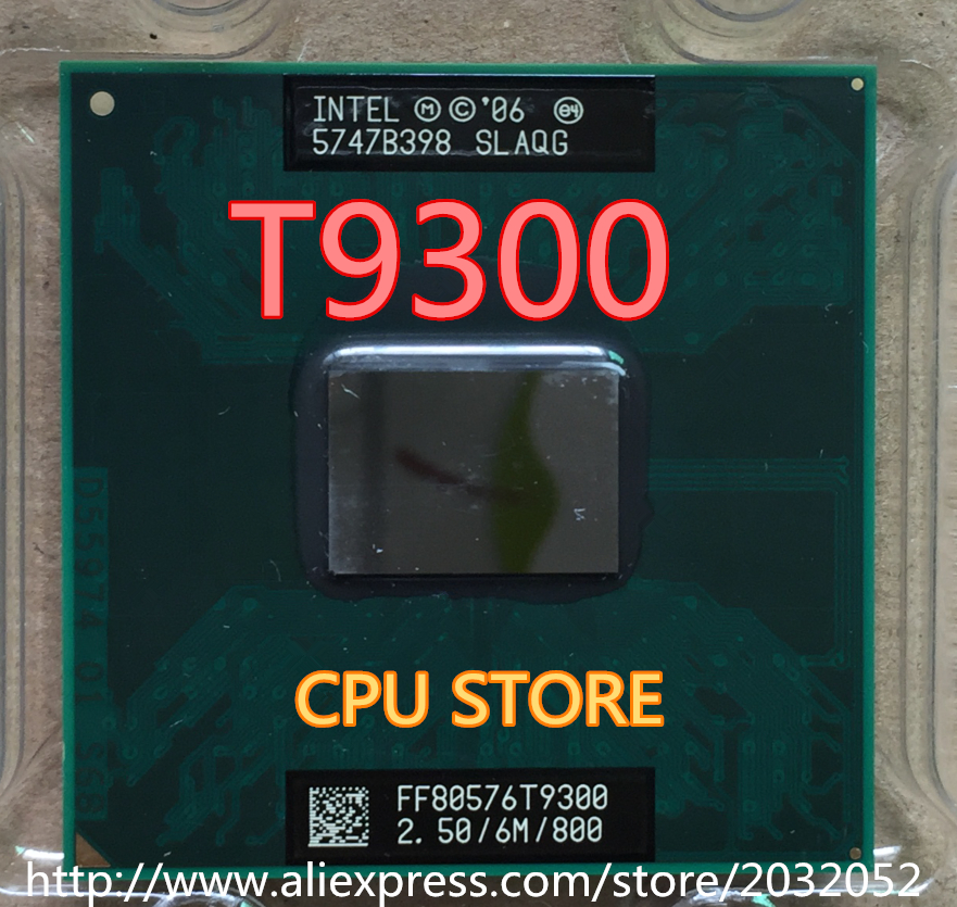 Intel Core 2 Duo T9300 2.5 GHz 6M 800MHz Processor Socket P SLAYY SLAQG CPU (working 100% Free Shipping)<br><br>Aliexpress