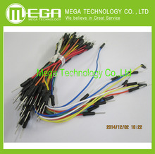 65pcs=1set Jump Wire Cable Male to Male Jumper Wire for A rduino Breadboard 65 jump wires