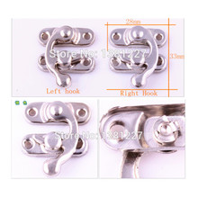 Wholesale Hardware accessories Metal Vintage Antique Jewelry box latches Hasp lock 28 * 33MM 100pcs/lot