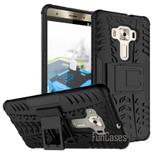 Case for Asus Zenfone 3 Deluxe Zs570kl  New 5.7inch Back PC Cover Case Kickstand Zs570kl Phone Bags  Hybrid Hard Armor Cover .'