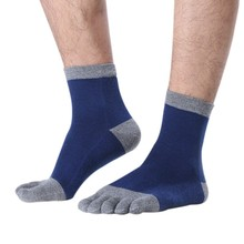Mens Womens 5 Color Unisex Cotton Socks Toe Socks Five Finger Short Socks