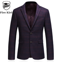 Fire Kirin Purple Red Blazer Men Vintage Style Blazer Masculino Casual Suit Jacket Luxury Brand High Quality Fall Blazers Q188