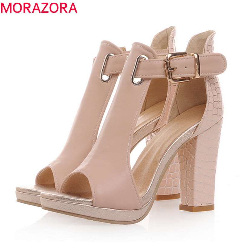 women sandals 2017 new fashion summer open toe platform prom wedding shoes woman pink white blue pumps<br><br>Aliexpress
