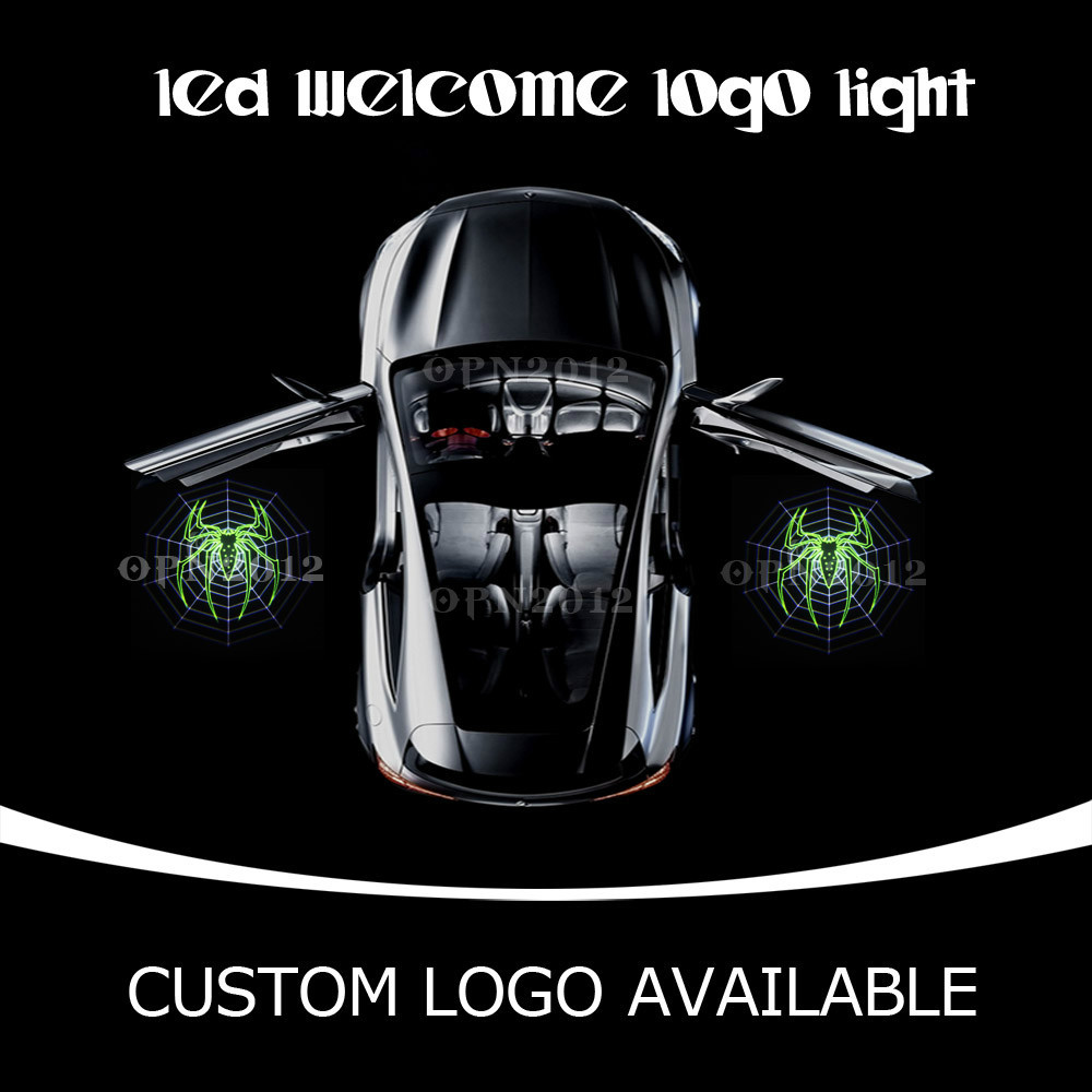 Green Spider Graphic Car LED Welcome Door Courtesy Light Ghost Shadow Logo Projector Light For Nisson SHELBY BUICK MUSTANG 1404<br><br>Aliexpress