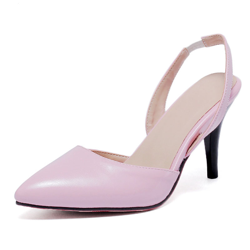 Summer Hot Sales Sexy Women Sandals Beige Black Pink Pumps Ladies high Heel Shoes Big Size 31 43 Pointed Toe women shoes P843<br><br>Aliexpress