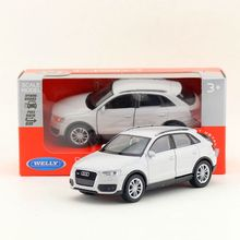Welly DieCast Metal Model/1:36 Scale/Audi Q3 SUV Toy Car/Pull Back Educational Collection/for children's gift or for collection