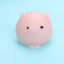 New Cute Pig Ball Mochi Squishy Squeeze Prayer Healing Kawaii Toy Collection Funny Joke Anti-stress Kids Toys Novelty Gift