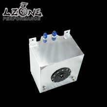 LZONE RACING - 20L Aluminum Fuel Surge tank with cap/foam inside mirror polished  Fuel cell  without sensor JR-TK14