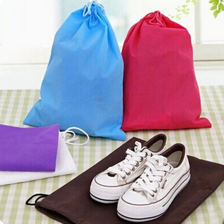 1PCS Women Drawstring Bags for Book Clothes Travel Drawstring Bag Travel Non-woven Fabric Shoes Pouch Bag