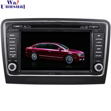 Free Shipping Professional Wince Car Entertainment Multimedia System DVD Player Audio For Skoda Superb With GPS Navi BT Free Map