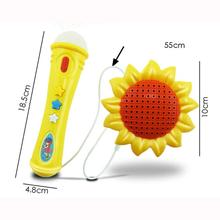 New Sunflower Echo Microphone Mic Voice Changer Toy Gift Birthday Present Mic Karaoke Singing Baby Kids Funny Music Toys Gift